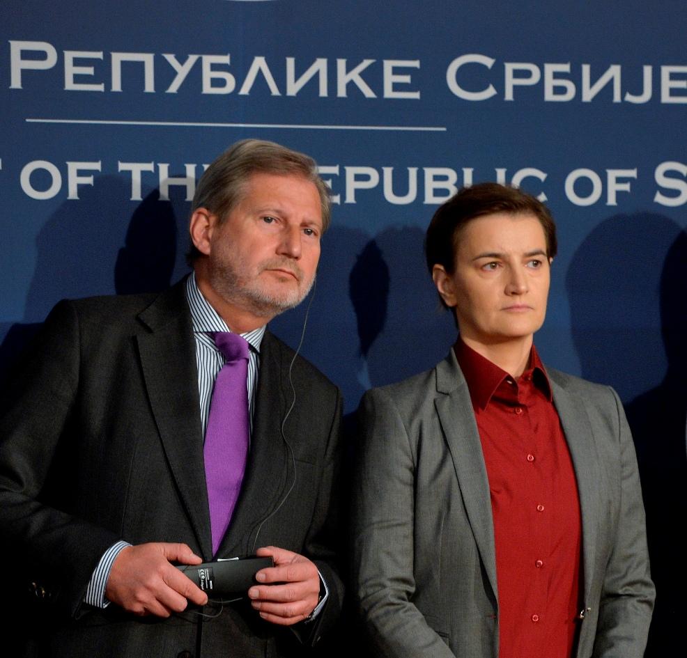 Brnabić i Han o evropskom putu Srbije, regionu