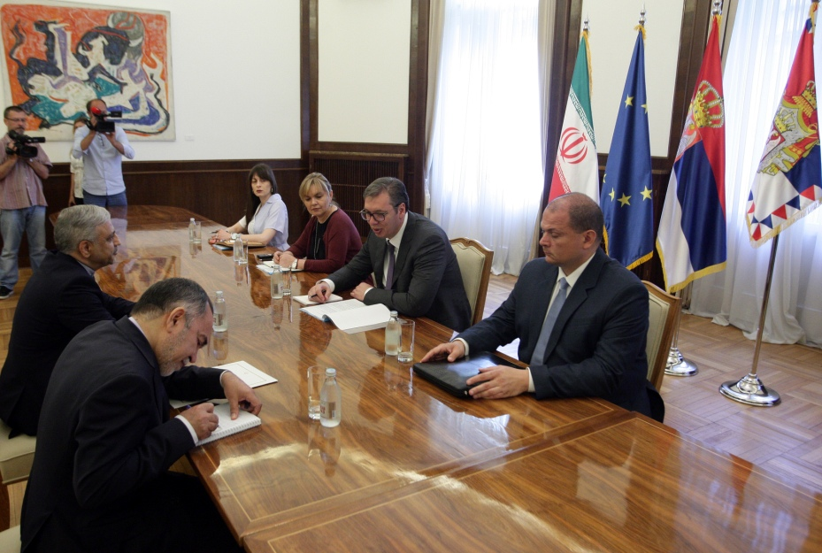 Vučić primio ambasadora Irana