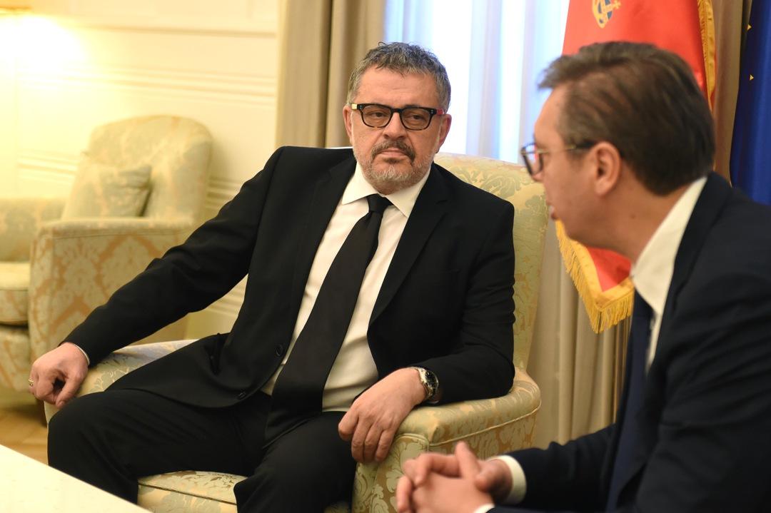 Vučić primio u oproštajnu posetu ambasadora Crne Gore