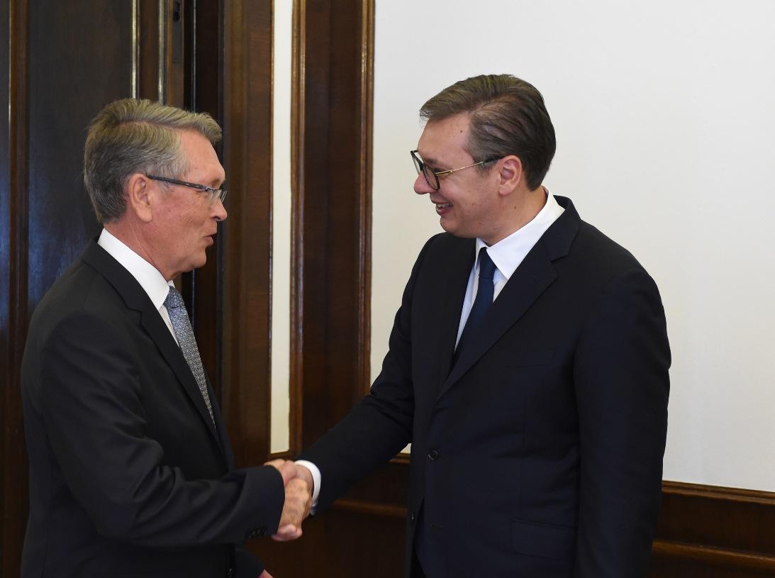 Vučić Čepurinu: Hvala na svemu što ste uradili za Srbiju