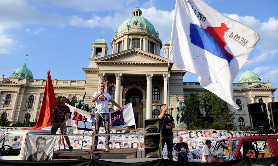 Protest u Beogradu: Kosmet proglasiti okupiranom teritorijom
