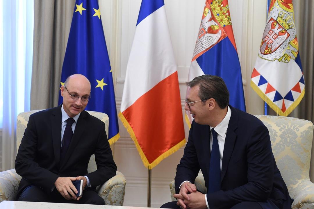 Vučić zahvalio Mondoloniju za izuzetan doprinos jačanju srpsko-francuskih odnosa