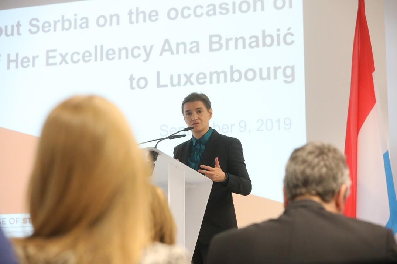 Ana Brnabić nastavlja posetu Luksemburgu