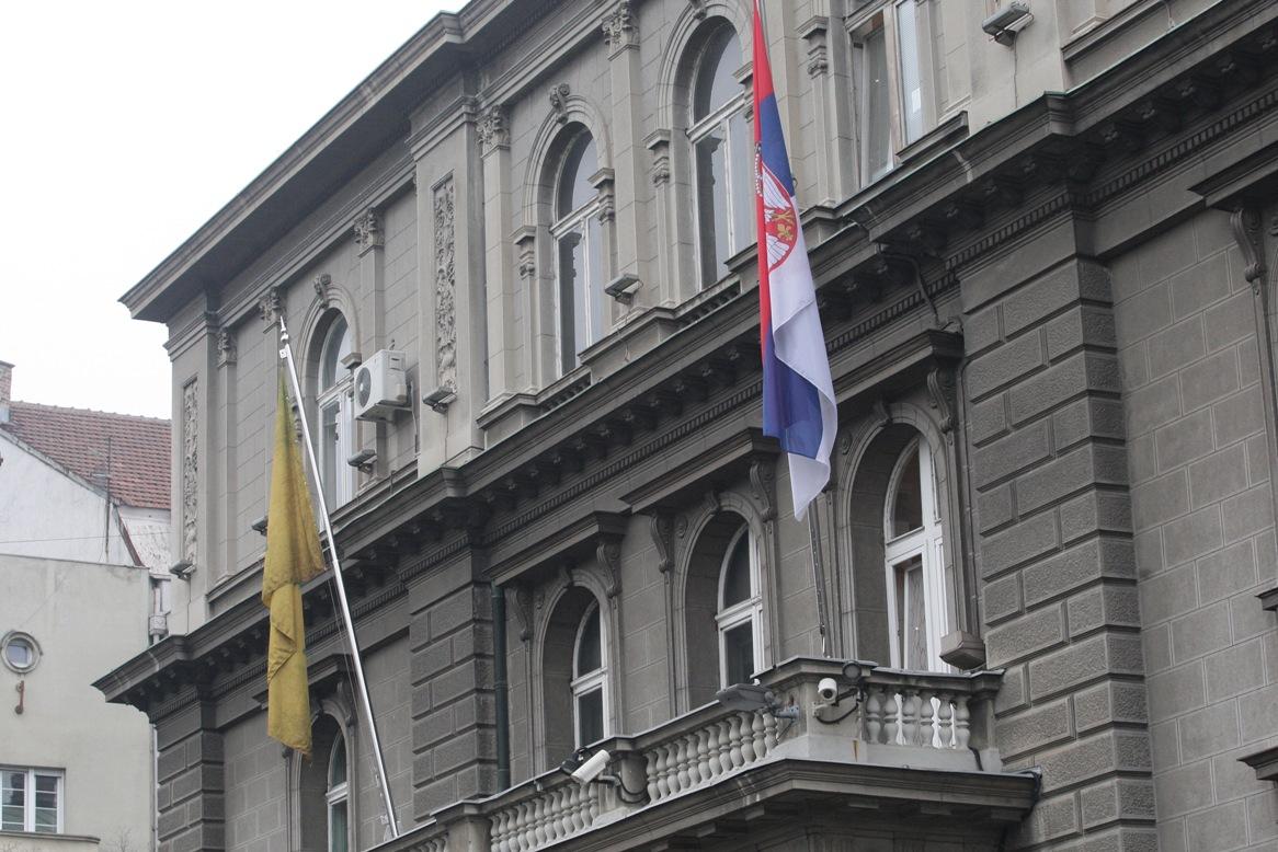 Na zgradi Predsedništva zastava sa Davidovom zvezdom