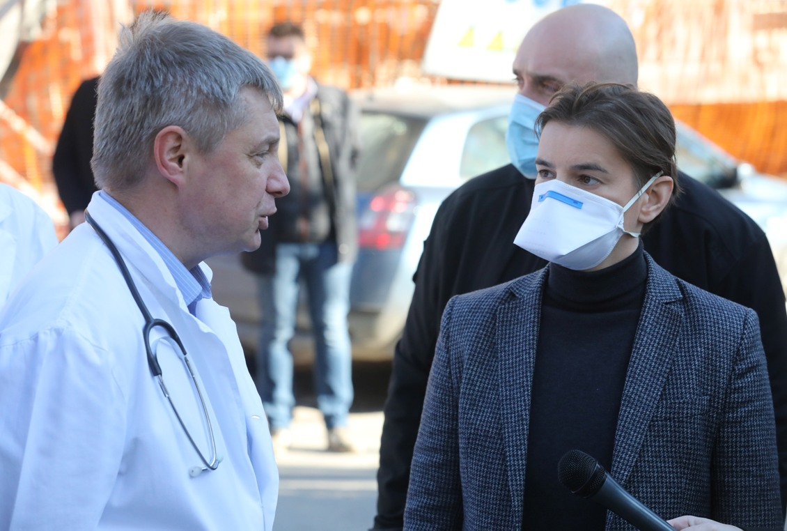Brnabić obišla Infektivnu kliniku u Beogradu