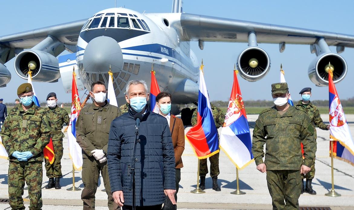 Sleteo prvi Iljušin s ruskom pomoći Srbiji, pomoć po dogovoru Vučića i Putina