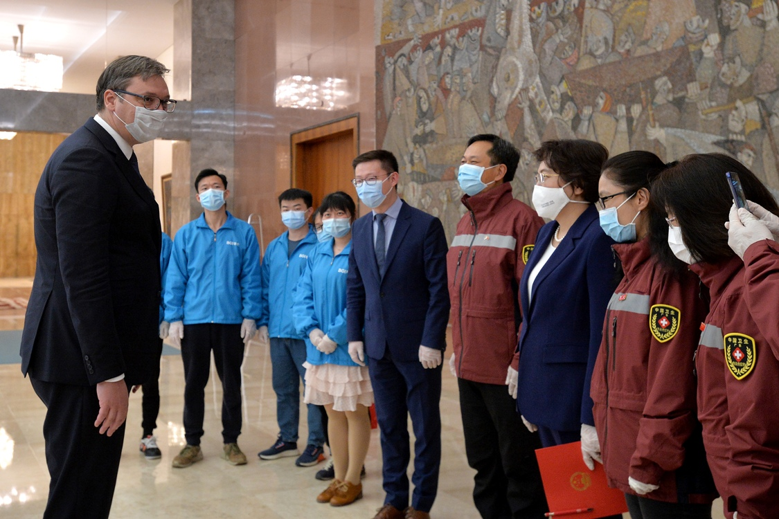 Vučić: Ogromna zahvalnost timu kineskih stručnjaka