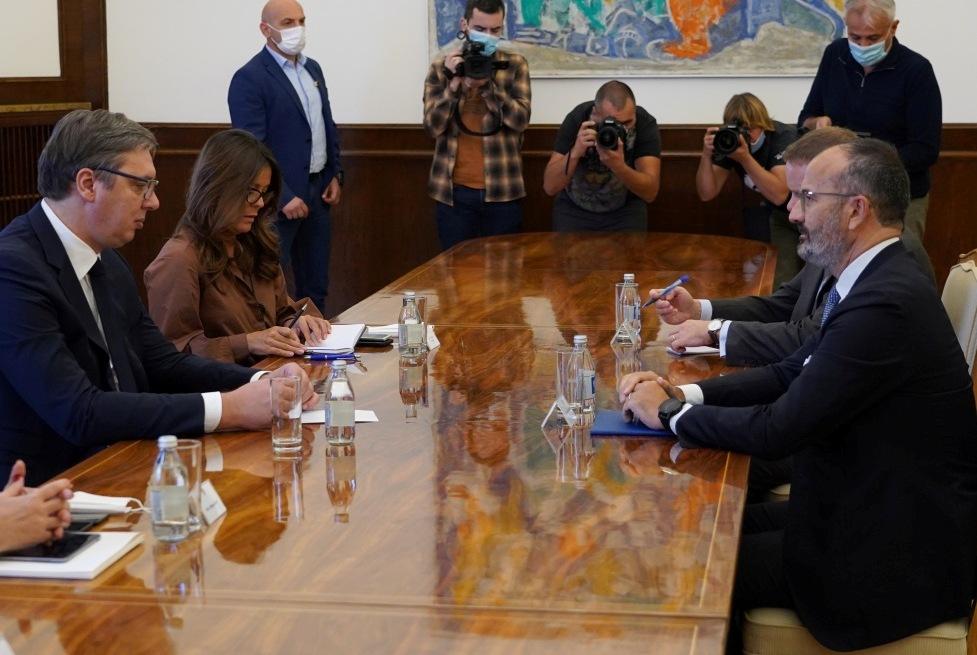 Vučić sa Fabricijem: Srbija u Briselu za normalizaciju odnosa