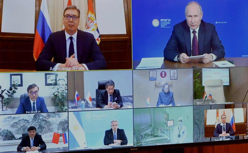 Vučić i Putin: Protiv virusa korona samo udruženim snagama