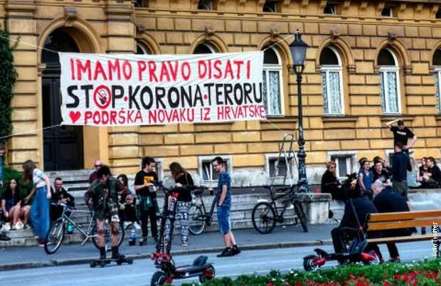 Poruka podrške Novaku u centra Zagreba