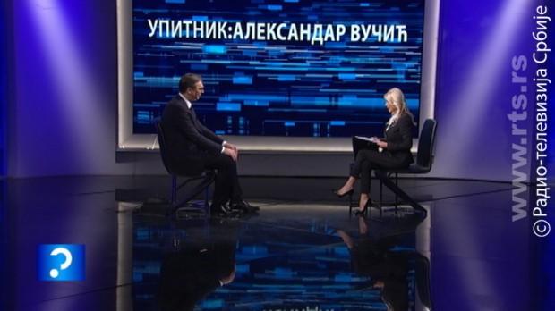 Vučić za RTS: Teško je boriti se protiv mene, savest mi je čista