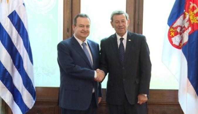 Šefovi diplomatija Srbije i Urugvaja o bilateralnim odnosima