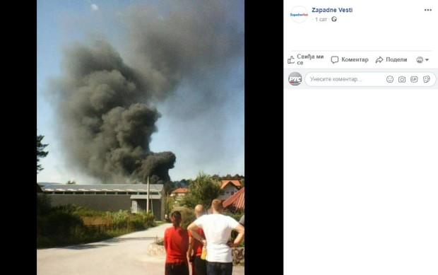 Požar u fabrici u Užicu, prethodile dve eksplozije
