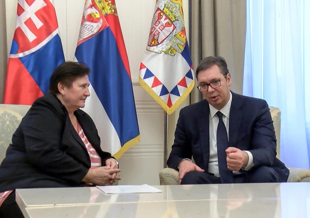 Vučić i Repčekova o saradnji Srbije i Slovačke