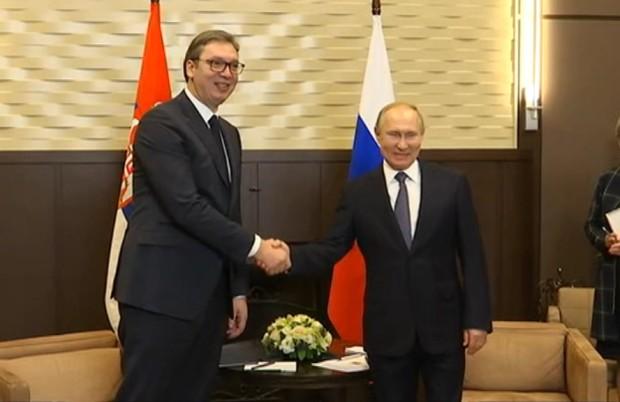 Putin: Strateško partnerstvo Srbije i Rusije svakodnevno jača