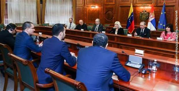 Mihajlovićeva i Areaz o napretku saradnje Srbije i Venecuele