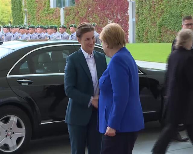 U toku sastanak Ane Brnabić i Angele Merkel