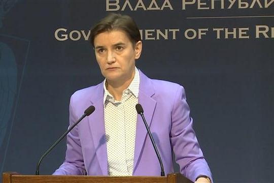 Brnabić: Danas s Vučićem, razmotrićemo restriktivnije mere