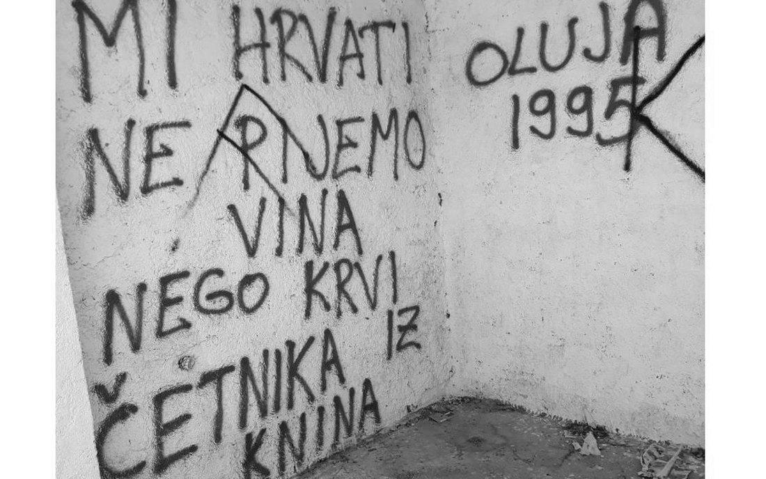 Novi antisrpski grafiti kod Knina