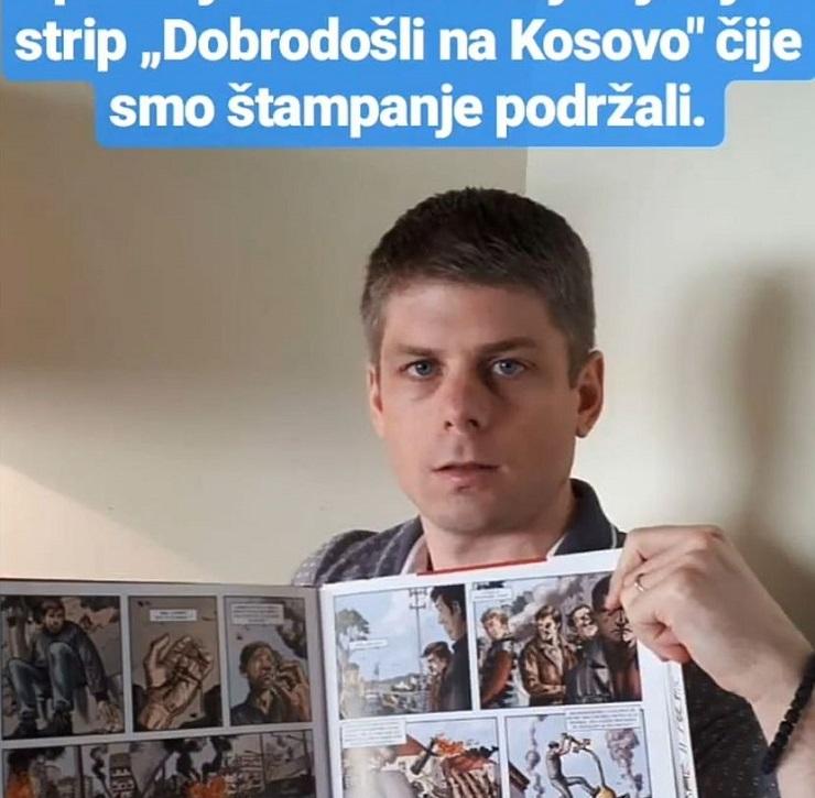 "Gujon: Strip ""Dobrodošli na Kosovo"" dostupan i na srpskom"