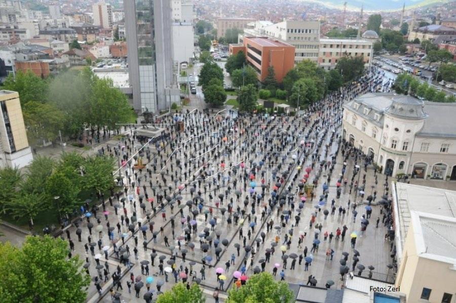 Test protest pristalica Samoopredeljenja u Prištini