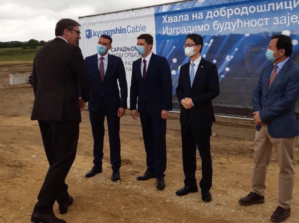 Vučić: Hvala korejskoj kompaniji; Smederevska Palanka i cela Srbija imaju budućnost