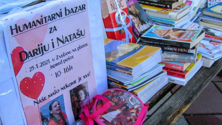 Na bazaru u Zvečanu prikupljeno 197.000 dinara za lečenje Darije i Nataše