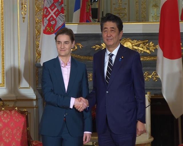 Brnabić sa Abeom: Srbija najvažniji partner Japana na Zapadnom Balkanu