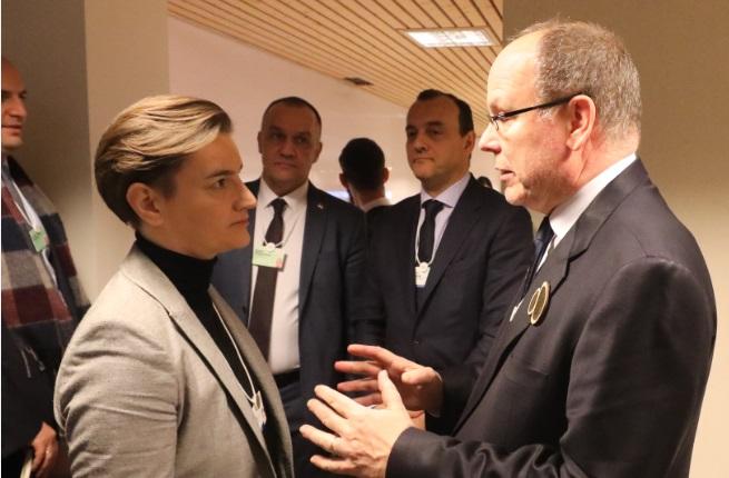 Brnabić se susrela u Davosu sa princom Albertom od Monaka