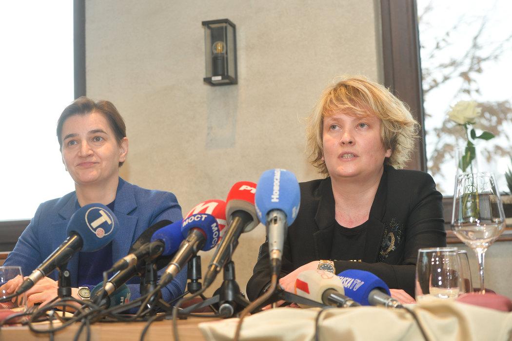 Brnabić: Sa Maljković promovišemo ženski sport u Srbiji