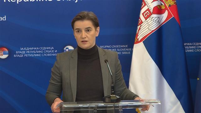 Brnabić: Odnosi Srbije i Slovenije na najvišem nivou