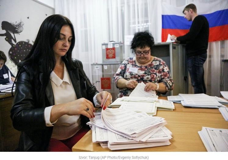 Jedinstvenoj Rusiji 49,63 odsto na osnovu 95.05 odsto glasova