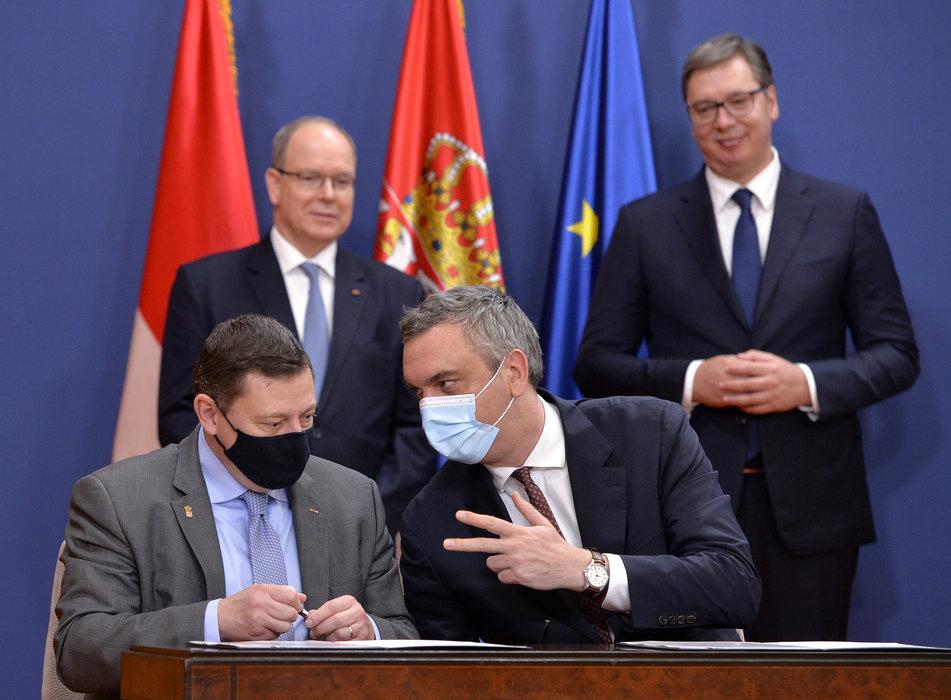 Sastanak privrednika Srbije i Monaka u Palati Srbija