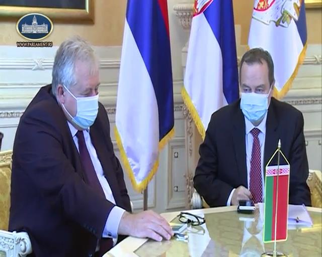 Dačić se sastao sa amabsadorom Belorusije