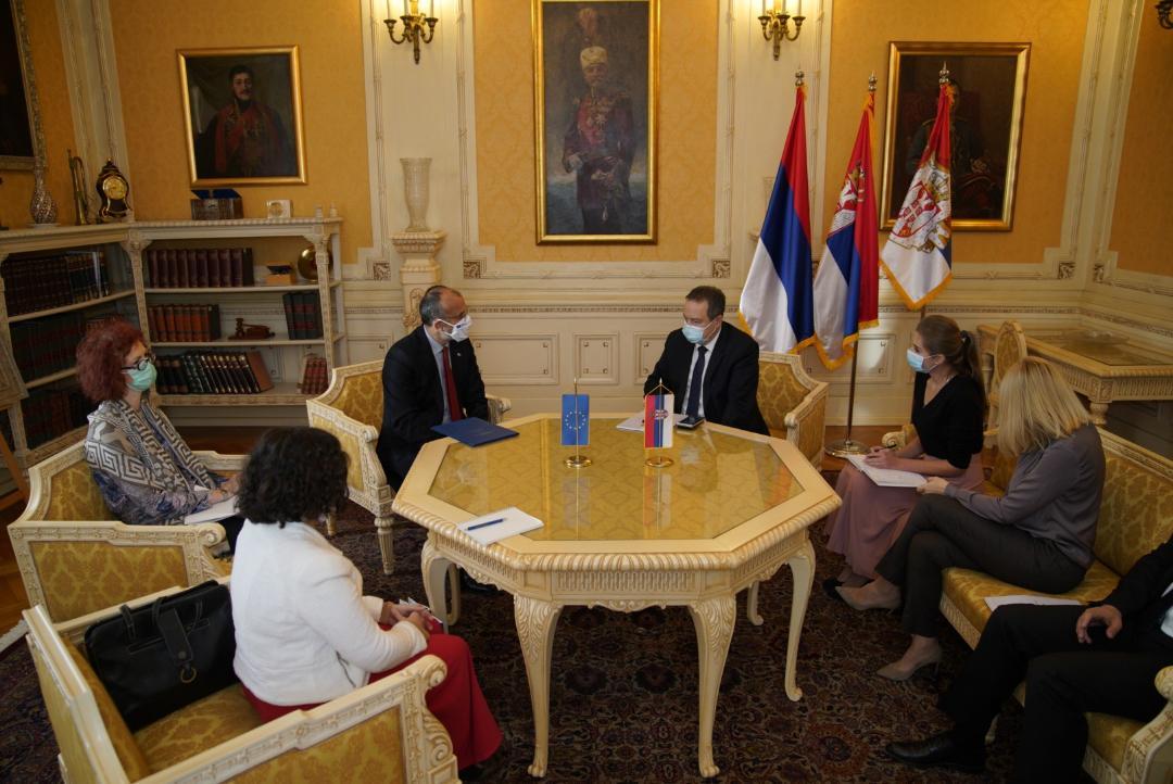 Predsednik Narodne skupštine Ivica Dačić primio šefa Delegacije Evropske unije u Srbiji