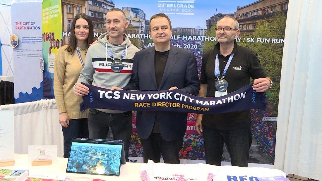 Dačić obišao štand Beogradskog maratona u Njujorku