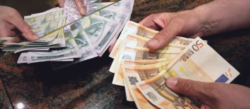 Evro u ponedeljak, 117,58 dinara