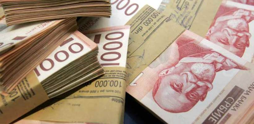 NBS kupila 45 miliona evra, kurs dinara sutra 117,9189