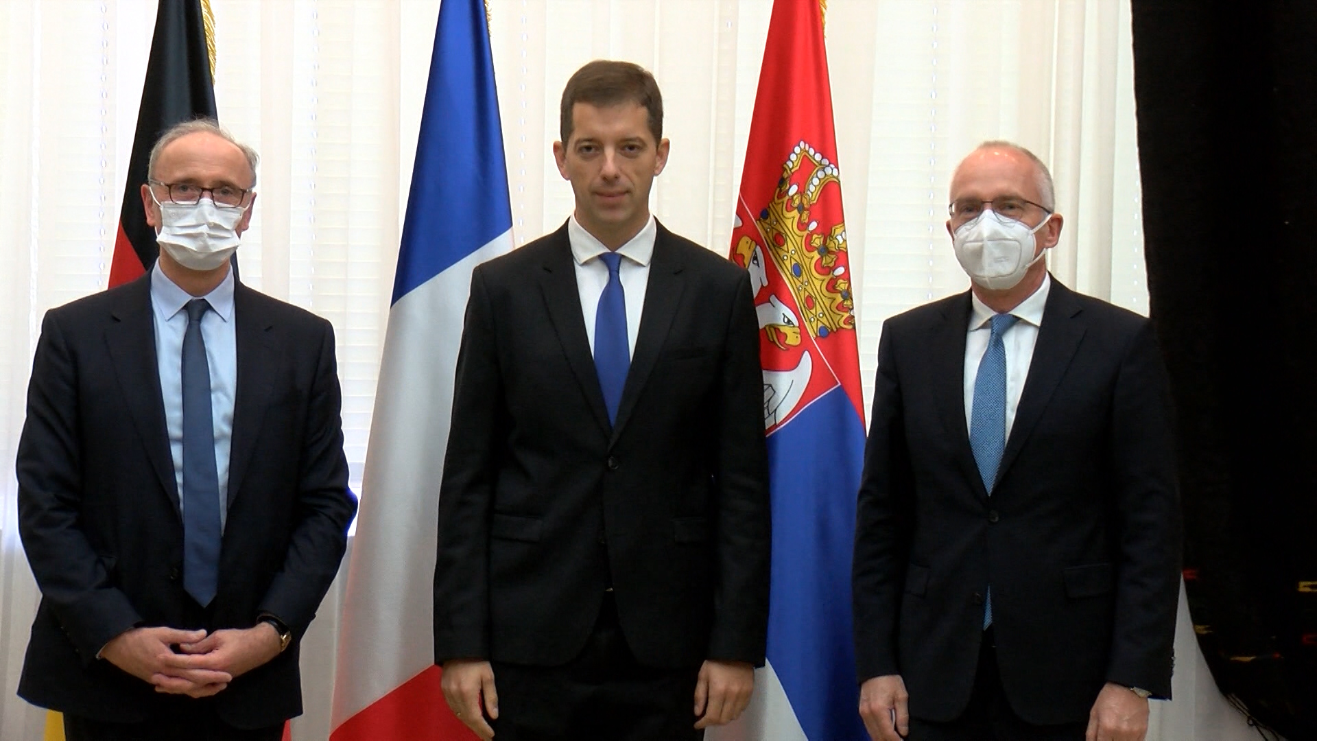 Đurić sa ambasadorima Nemačke i Francuske o položaju Srba na KiM