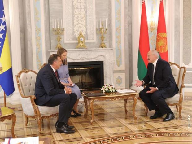Dodik se sastao sa Lukašenkom u Minsku