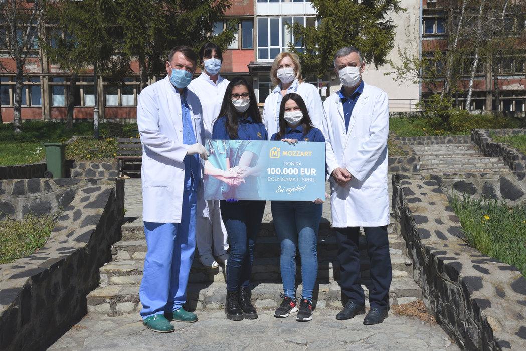 Kompanija Mozzart donirala 100.000 evra bolnici u Kosovskoj Mitrovici