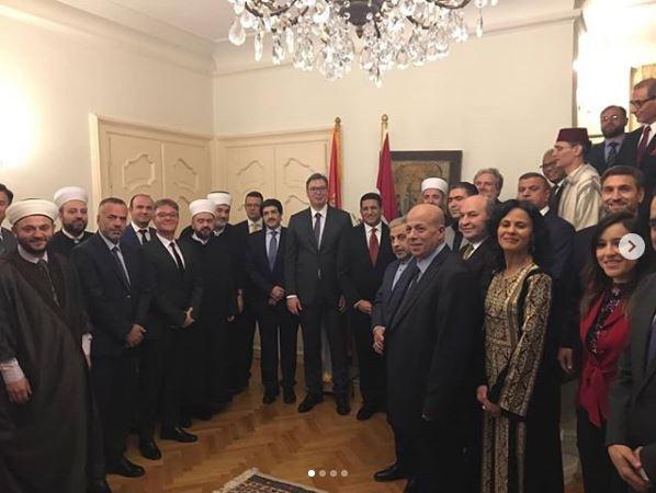 Vučić na večeri u egipatskoj ambasadi