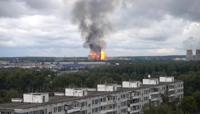 Veliki požar u elektrani u moskovskom regionu  VIDEO