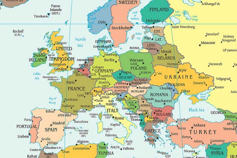 Cela EU u crvenoj zoni, samo Grčka u zelenoj