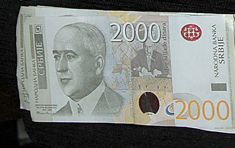 Zaplenjeno 100.000 falsifikovanih dinara