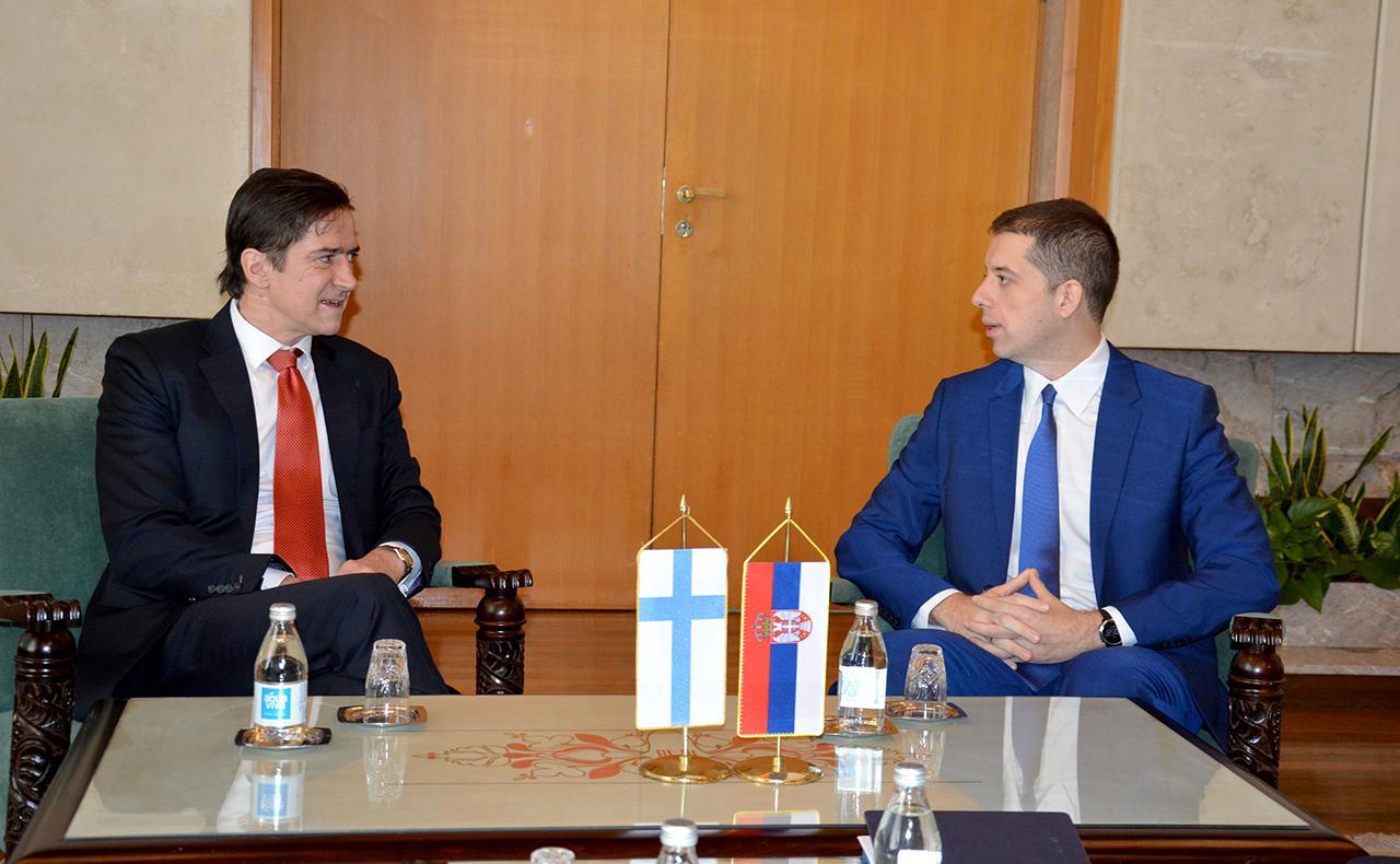 Đurić sa državnim fukcionerom Finske o Kosovu i Metohiji