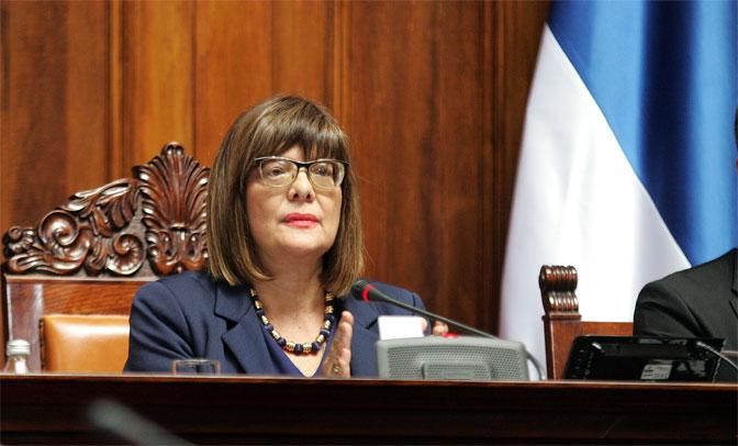 Gojković čestitala Hanuku