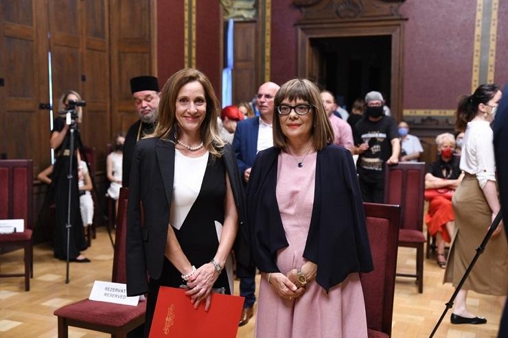Gojkovićeva u Temišvaru otvorila izložbu Matice srpske
