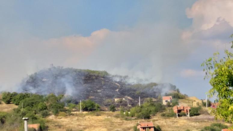 Požar na brdu u Malom Zvečanu