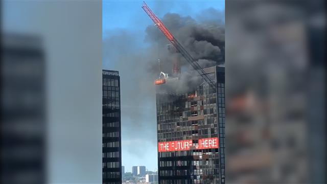 Požar u zgradi Svetskog trgovinskog centra u Briselu